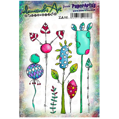 Paper Artsy ZINSKI Art 06 Rubber Cling Stamp ZA06 Preview Image