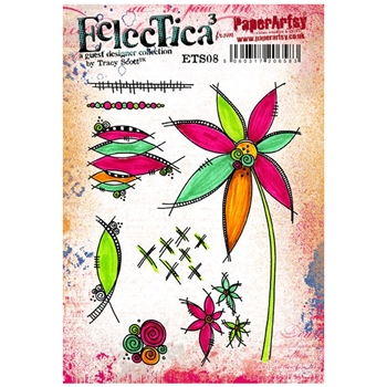 Paper Artsy ECLECTICA3 TRACY SCOTT 08 Rubber Cling Stamp ETS08