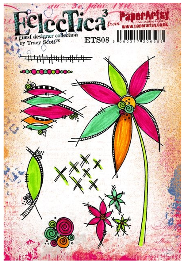 Paper Artsy ECLECTICA3 TRACY SCOTT 08 Rubber Cling Stamp ETS08 zoom image