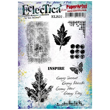 Paper Artsy ECLECTICA3 LIN BROWN 32 Rubber Cling Stamp ELB32