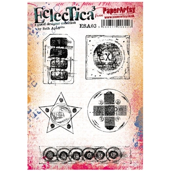 Paper Artsy SETH APTER 03 ECLECTICA3 Rubber Cling Stamp ESA03