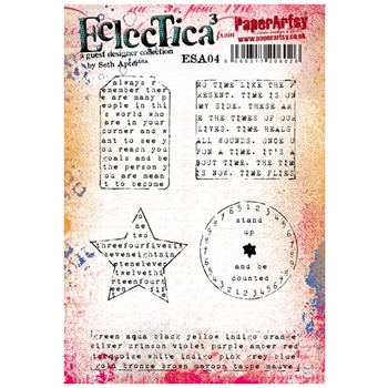 Paper Artsy SETH APTER 04 ECLECTICA3 Rubber Cling Stamp ESA04