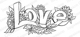 Impression Obsession Cling Stamp LOVE E16270