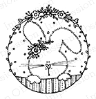 Impression Obsession Cling Stamp BUNNY CIRCLE C19316