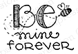 Impression Obsession Cling Stamp BE MINE B19311