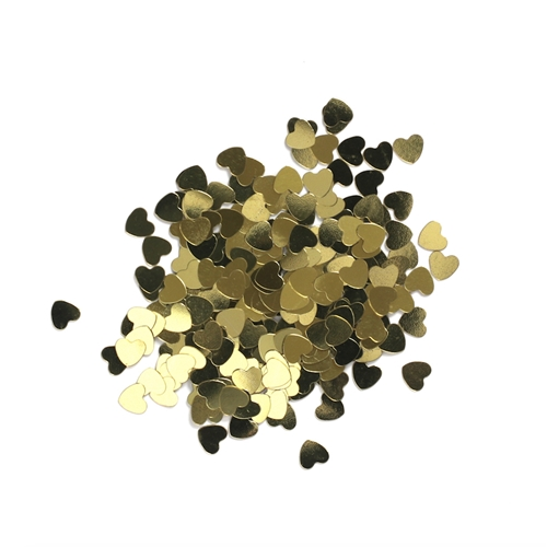 Darice 6mm Heart Shaped GOLD CONFETTI 163046 Preview Image