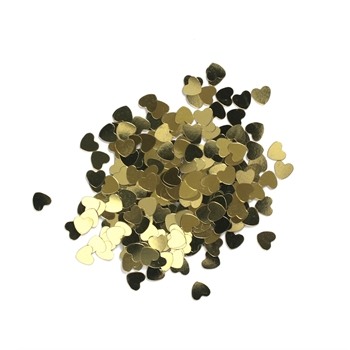 Darice 6mm Heart Shaped GOLD CONFETTI 163046