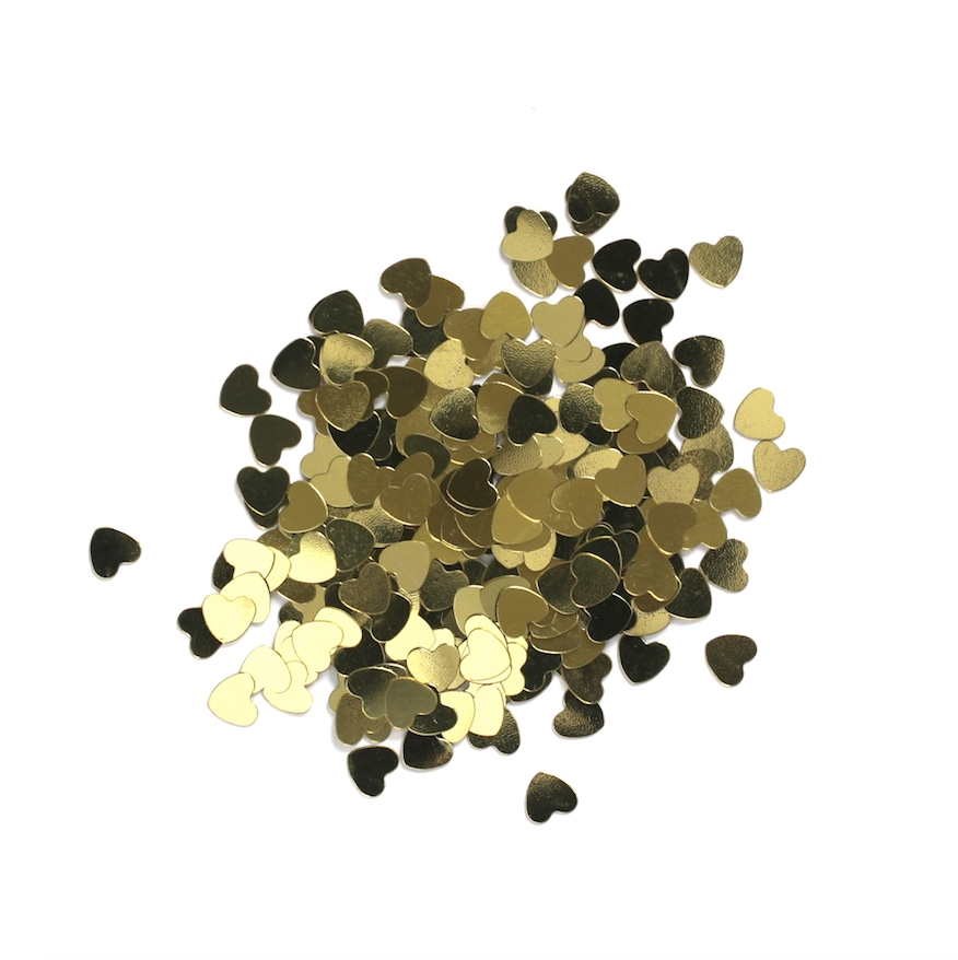 Darice 6mm Heart Shaped GOLD CONFETTI 163046 zoom image