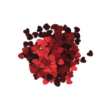 Darice 6mm Heart Shaped RED CONFETTI 163041