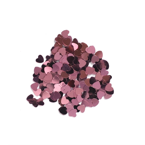 Darice 6mm Heart Shaped METALLIC PINK CONFETTI 163042 Preview Image