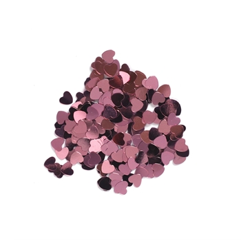 Darice 6mm Heart Shaped METALLIC PINK CONFETTI 163042