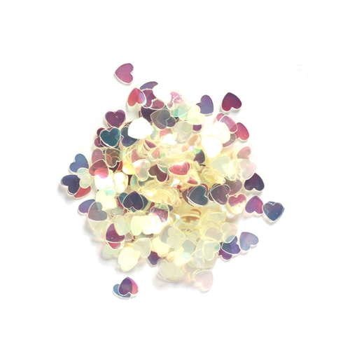 Darice 6mm Heart Shaped IRIDESCENT CONFETTI 163048 Preview Image