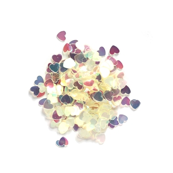 Darice 6mm Heart Shaped IRIDESCENT CONFETTI 163048