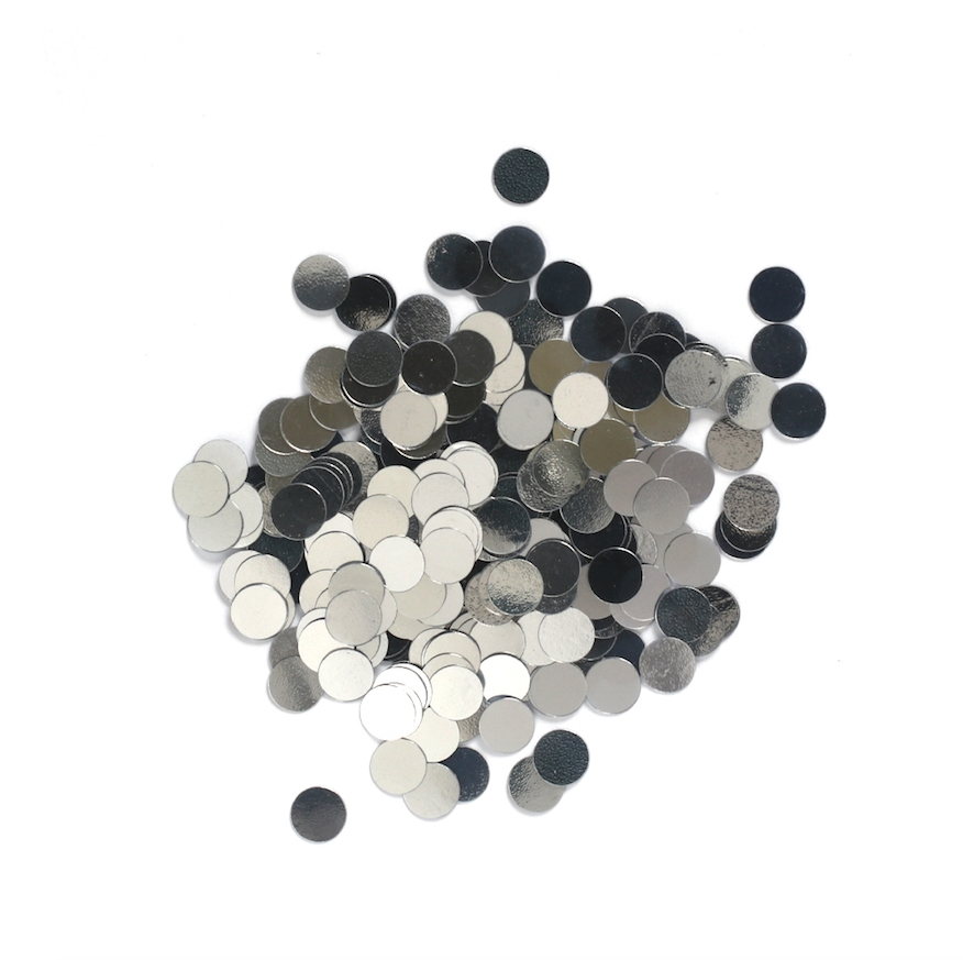 Darice 6mm Dot Shaped SILVER CONFETTI 163038 zoom image