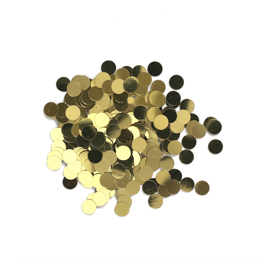 Darice 6mm Dot Shaped GOLD CONFETTI 163037 zoom image