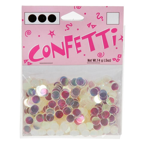 Darice 6mm Dot Shaped IRIDESCENT CONFETTI 163039 Preview Image