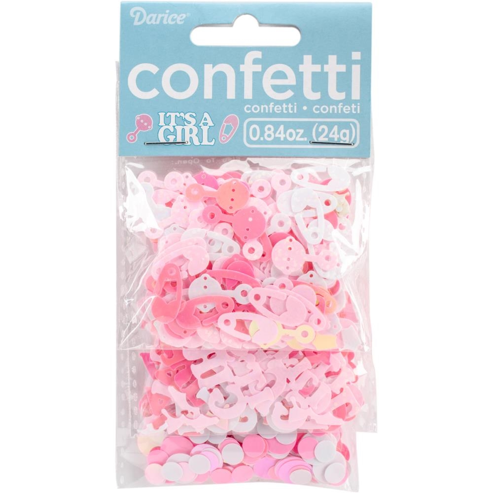 Darice Confetti Pack PINK BABY SHOWER 30000792 zoom image