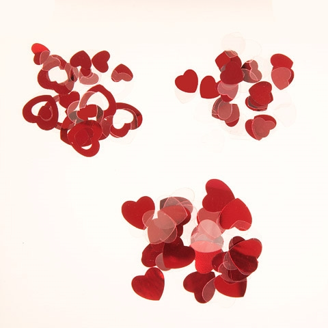 Darice Confetti Pack RED HEARTS 30000788 zoom image