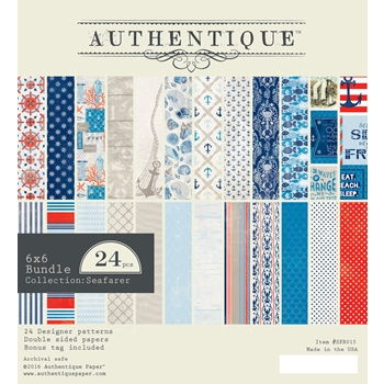 Authentique 6 x 6 SEAFARER Paper Pad SFR015
