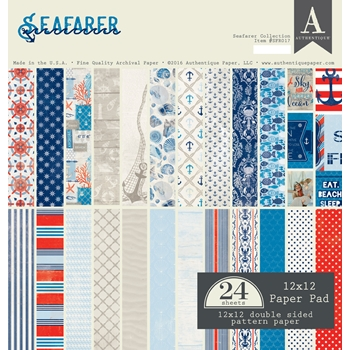 Authentique SEAFARER 12 x 12 Paper Pad SFR017