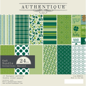 Authentique 6 x 6 EMERALD Paper Pad EME008