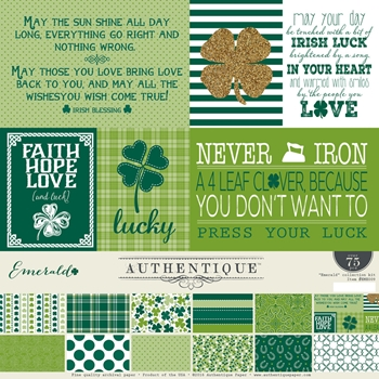 Authentique EMERALD 12 x 12 Collection Kit EME009