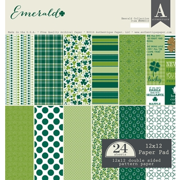 Authentique EMERALD 12 x 12 Paper Pad EME010
