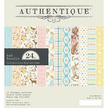 Authentique 6 x 6 EASTERTIME Paper Pad ETM008