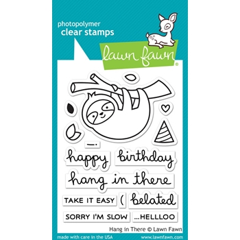 Lawn Fawn HANG IN THERE Clear Stamps LF1311
