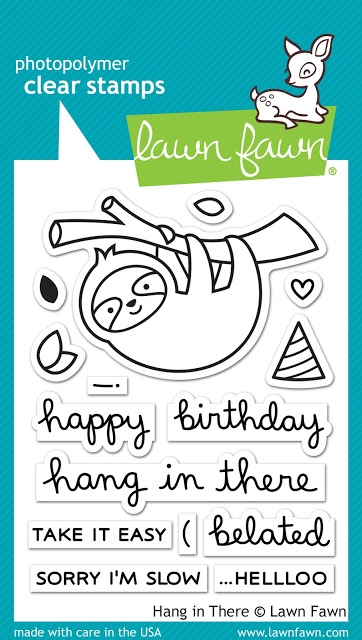Lawn Fawn HANG IN THERE Clear Stamps LF1311 zoom image