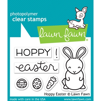 Lawn Fawn HOPPY EASTER Clear Stamps LF1319