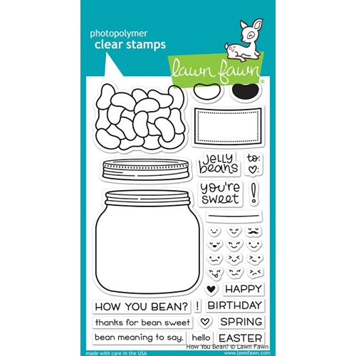 Lawn Fawn HOW YOU BEAN? Clear Stamps LF1325 Preview Image
