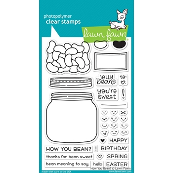 Lawn Fawn HOW YOU BEAN? Clear Stamps LF1325