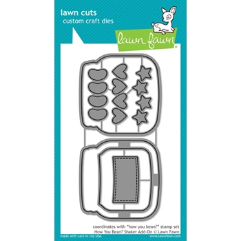 RESERVE Lawn Fawn HOW YOU BEAN? Shaker Add-On Lawn Cuts Dies LF1327