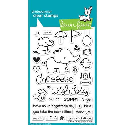 Lawn Fawn ELPHIE SELFIE Clear Stamps LF1328 Preview Image