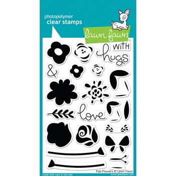 Lawn Fawn FAB FLOWERS Clear Stamps LF1332