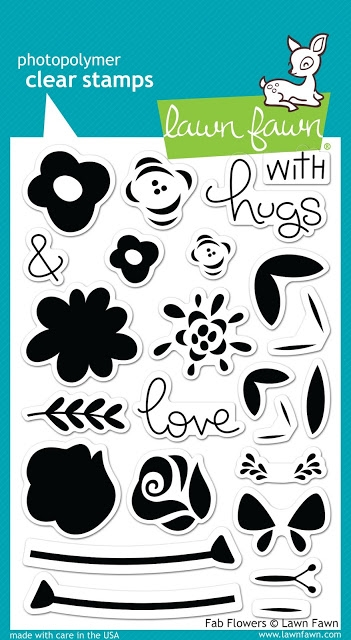 Lawn Fawn FAB FLOWERS Clear Stamps LF1332 zoom image