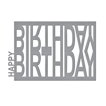 S4-716 Spellbinders HAPPY BIRTHDAY EASEL Celebrate the Day by Marisa Job Etched Dies