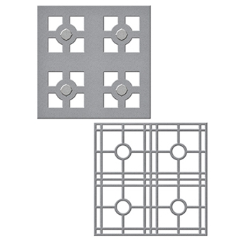S4-715 Spellbinders LAYERED TILE Celebrate the Day by Marisa Job Etched Dies