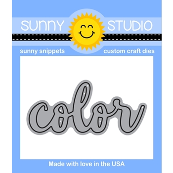 Sunny Studio Snippets COLOR WORD Die Set SunnySS804