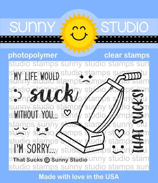 Sunny Studio THAT SUCKS Clear Stamp Set SSCL152 zoom image