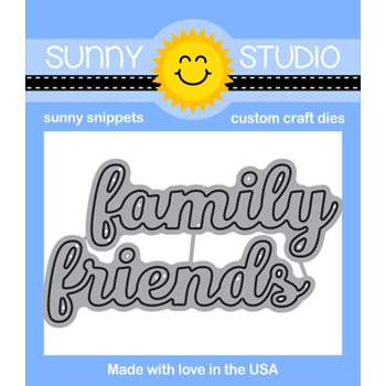 Sunny Studio Snippets FRIENDS AND FAMILY WORD Die Set SunnySS044