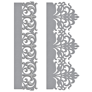 S4-707 Spellbinders GRACEFUL DAMASK Card Creator Amazing Paper Grace by Becca Feeken Etched Dies