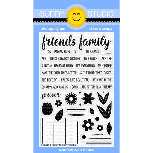 Sunny Studio FRIENDS AND FAMILY Clear Stamp Set SSCL148 Preview Image
