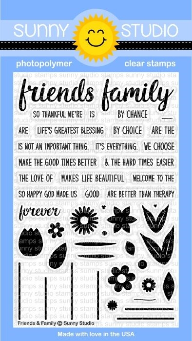 Sunny Studio FRIENDS AND FAMILY Clear Stamp Set SSCL148 zoom image