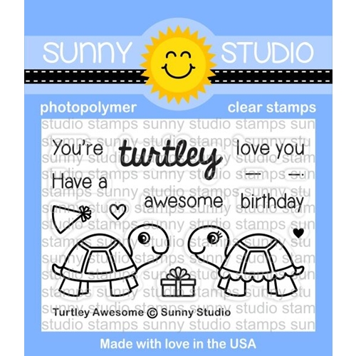 Sunny Studio TURTLEY AWESOME Clear Stamp Set SSCL153 Preview Image