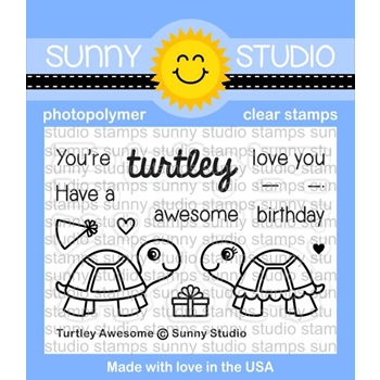Sunny Studio TURTLEY AWESOME Clear Stamp Set SSCL153