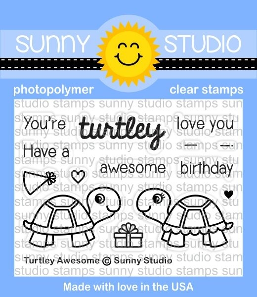 Sunny Studio TURTLEY AWESOME Clear Stamp Set SSCL153 zoom image