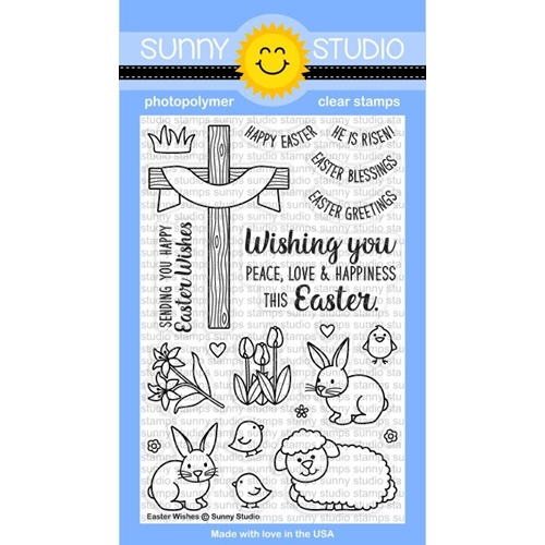 Sunny Studio EASTER WISHES Clear Stamp Set SSCL150 Preview Image