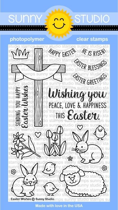 Sunny Studio EASTER WISHES Clear Stamp Set SSCL150 zoom image